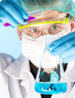 Close up portrait of chemist